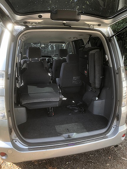 Toyota Voxy – Hand Controls, Swing Out Wheelchair Seat